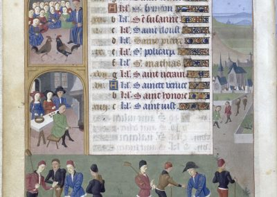 Getijdenboek - Heures d'Adélaïde de Savoie, Hertogin van Bourgondie, Februari, Musée Condé, Chantilly 1