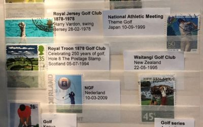 Cees Elshout schenkt postzegels aan golfmuseum